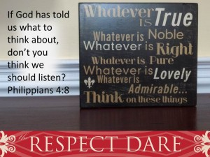 The Respect Dare… Dare Fifteen… GOT STUFF?